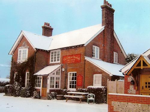 The Oak at Dewlish during the snowy months