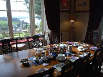 Dining room for breakfast and afternoon tea.  Sit and enjoy the view!