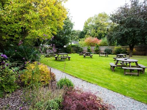 Well maintained beer garden