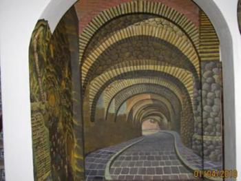 mural of the underground street Padre Miguel Hidalgo