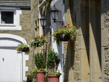 Hanging Baskets in summer.