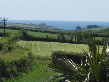 OUR FAB VIEW WITH DISTANT SEA TAKEN FROM A BEDROOM BALCONY