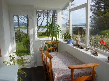 Conservatory with views to the sea