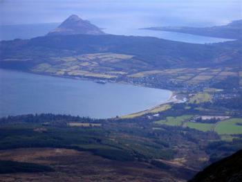 Brodick Bay from the summit of Goat Fell, Isle of Arran