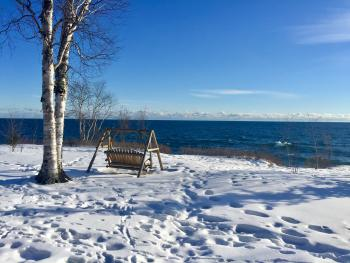 You will never tire of this Lake Superior view on our property