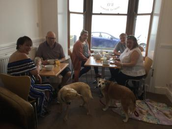 Our separate dog friendly breakfast room...