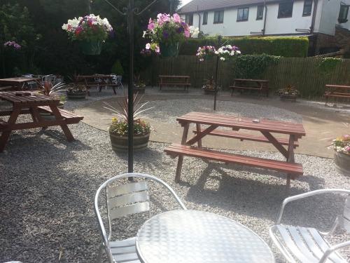 Enclosed beer garden