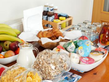 The full breakfast buffet - eat as much or as little as you like