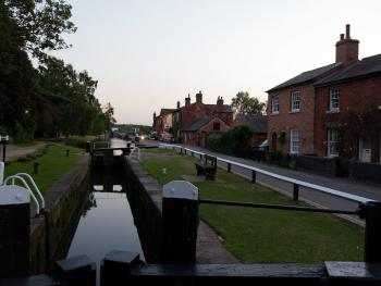 the popular Fradley junction nearby