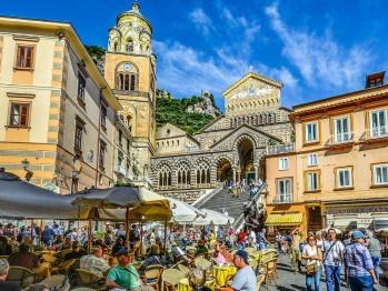 Veduta di Amalfi (distanza 30 km)