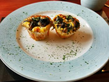 Gluten Free/Vegetarian Option - Spinach & Mushroom Egg Muffins