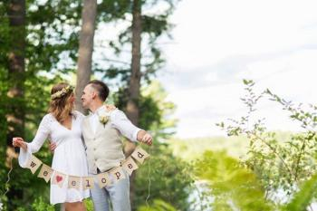 Our scenic lakeveiw gardens are popular for your very romantic elopement!