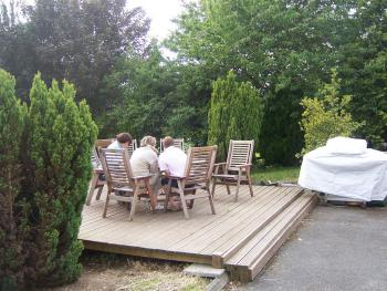 The Decking Area Outside Guest Lounge