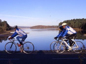 Vélo autour Lac Montbel