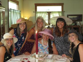 Hats in place, ready for an afternoon tea party!