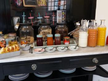 Exemple de disposition pour les petits-déjeuners