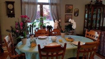 Breakfast table ready for guests..
