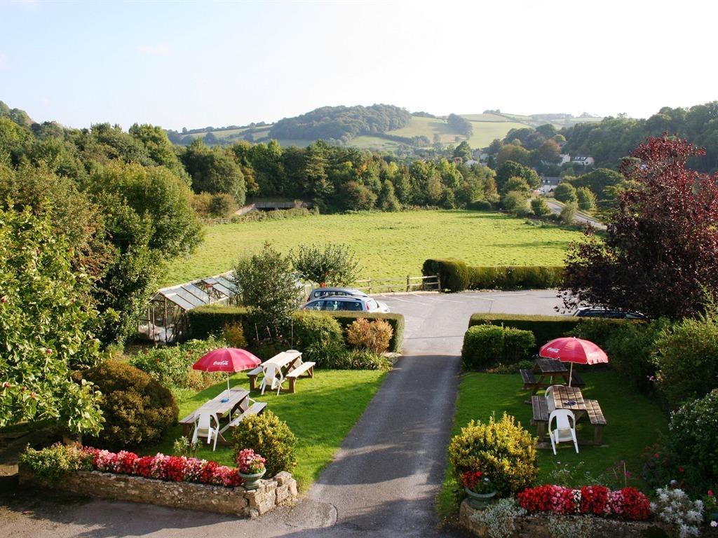 View from bedroom of garden and Dart Valley