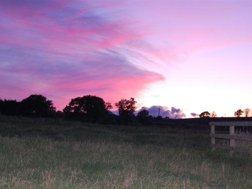 Sun set over Northumberland.