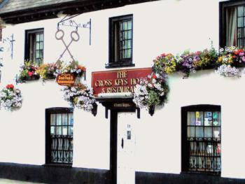 Front View of the Cross Keys Hotel