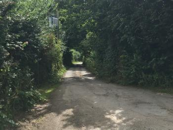 Lane leading to Higher Trewithen Holiday Cottages