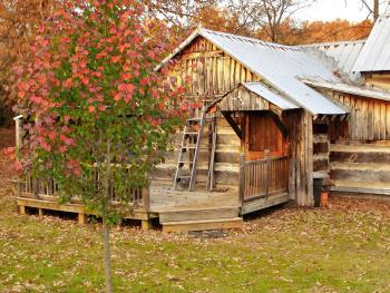 The Homesteader's Cabin on 250 acres. This is one of 5 authentic historic log cabins on our farm