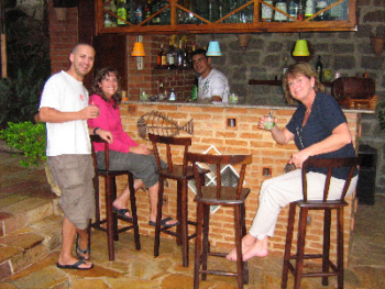 """Our poolside bar for a refreshing """"Caipirinha"""" and to exchange travel stories with other guests. The Caipirinha is the Brazilian national drink.  Tastes something like an alcoholic lemonade!"""