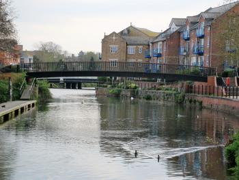River view in front of nearby Morrisons