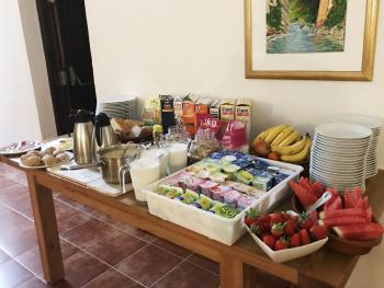 Breakfast selection - We offer a healthy breakfast with cereals, porridge, eggs (any way), yoghurts and different breads with freshly squeezed orange juice, tea and coffee