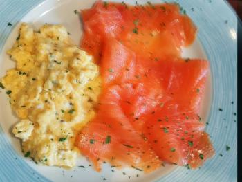 Breakfast Option on request - Scrambled Eggs with Smoked Salmon