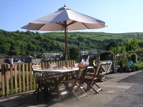 The Patio overooking the local countryside and Lynton