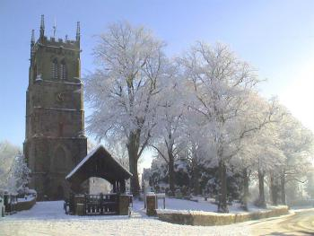 Wybunbury in the snow