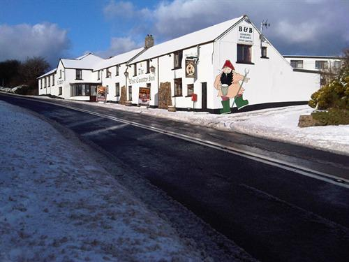 West Country Inn Snow Scene