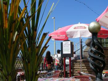 Forecourt Cafe/bar with Panoramic views of the Irish Sea.