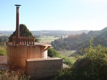 Espace bien-être avec vue sur la plaine d'Aubrac