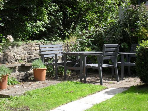 enjoy one of our seating areas in the garden