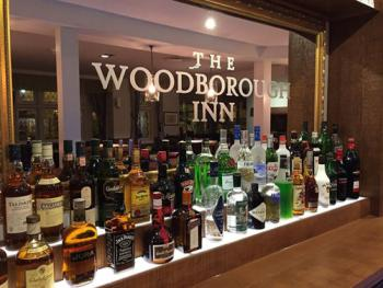 Woodborough Inn - Main bar spirit selection