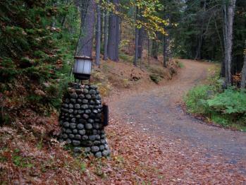 Entrance Road to the Ridge Cabin area.