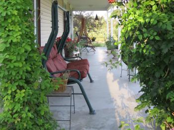 Sweetfern Inn front porch.