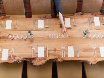 Restaurant Family Table Made Locally