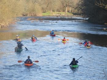 Kayaking on Wye