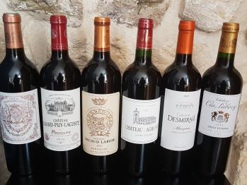 Quelques bouteilles à la carte des vins de la Table des Vignes