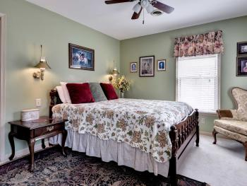 Lewis Room features a queen bed and private bath