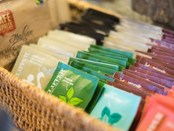 Tea and coffee selection