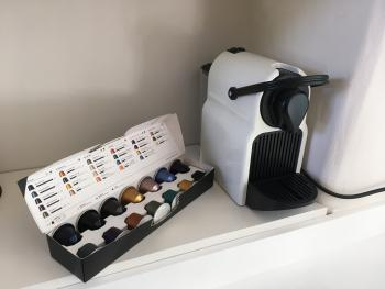 Nespresso coffee makers in all rooms