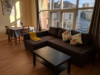 Lawrence House Apartments - Living area and dinning area