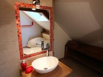 Serpette salle de bain du haut