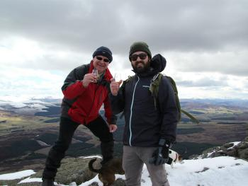 A wee dram at the top of Ben Rinnes