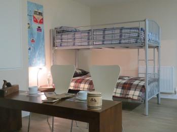 Dormitory room area.