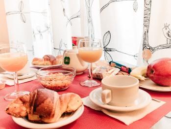 La colazione in struttura